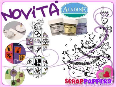Nuovi prodotti Aladine Scrapbooking Polveri a rilievo Timbri e Speciale Natale