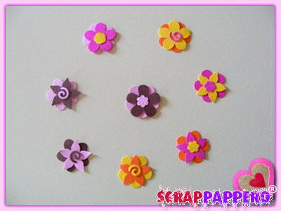 fiori carta scrap 01 vari con fustelle petals