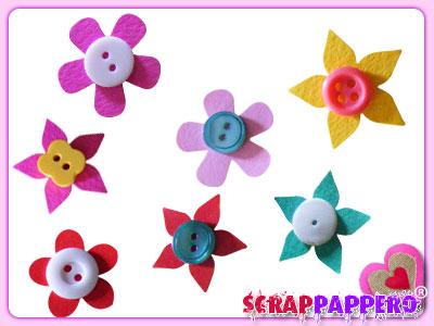 fiori carta scrapbooking 07 bottoni