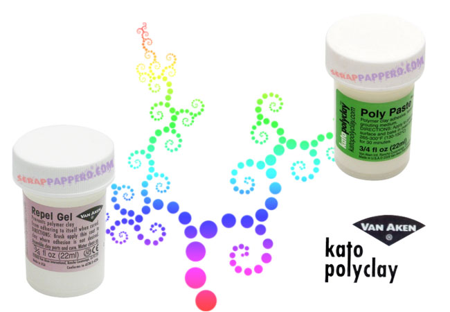 Poly Paste e Repel gel di Kato Polyclay in vendita