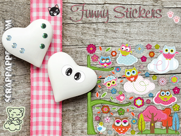 Funny stickers per scrap e Wall stickers per la Casa
