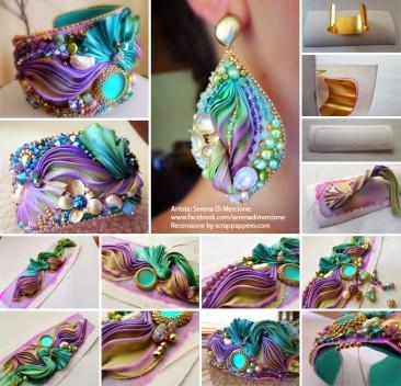 Shibori silk, gioielli artigianali by Serena Di Mercione
