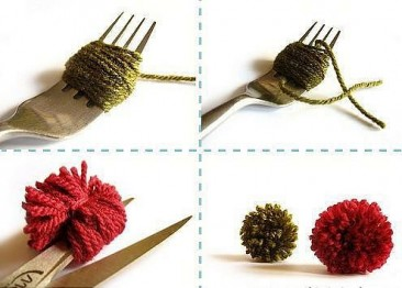 Diy Come creare PomPom con le forchette
