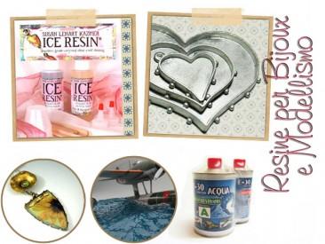 Ice Resin e Resine trasparenti per bigiotteria, inclusioni e modellismo