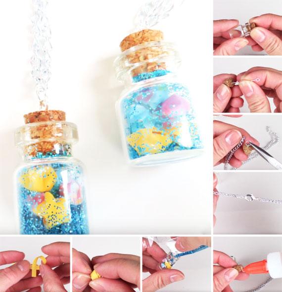 tutorial collana con mini bottiglietta