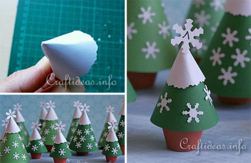 tutorial alberi di Natale in carta