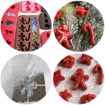 Crea addobbi di Natale con stampi in silicone
