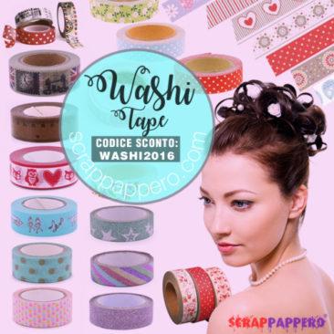 Offerta Codice sconto su tutti i Washi Tape