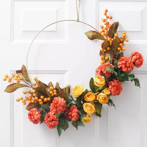 autumn wreath corona autunnale decorativa