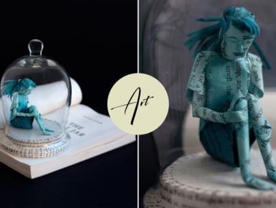 artista sculture di carta