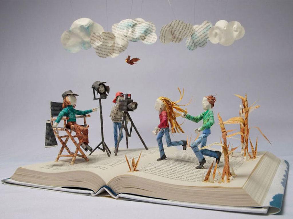 arte sculture di carta