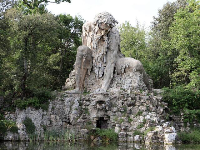 Il Colosso dell'appennino a villa Demidoff